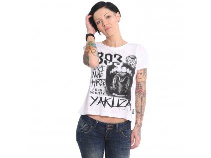 Yakuza dámske tričko WORMTONGUE Boyfriend GSB 15121 white