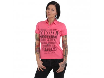Yakuza dámske polo tričko MIRROR PIQUE POLO GPO 15129 camellia rose