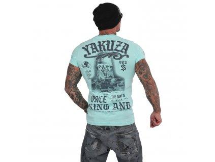 Yakuza KING tričko pánske TSB 15019 aruba blue