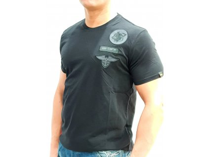 Alpha Industries Air Crew T tričko pánske black