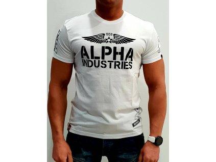 Alpha Industries Rebel T tričko pánske white