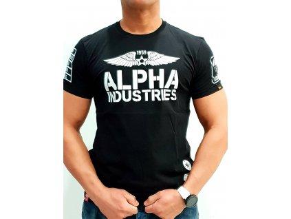 Alpha Industries Rebel T tričko pánske black