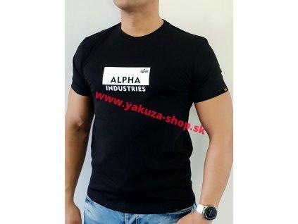 Alpha Industries BOX LOGO T black tričko pánske