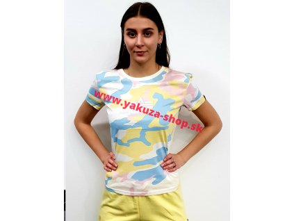 Alpha Industries NEW CAMO BASIC T Wmn yellowpink camo dámske tričko​​​​​​​