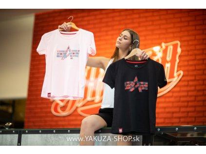 Alpha Industries FLOCK FLOWER T Wmn white dámske tričko g