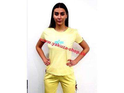 Alpha Industries RAINBOW T Wmn pastel yellow dámske tričko