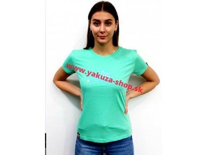 Alpha Industries RAINBOW T Wmn pastel mint dámske tričko