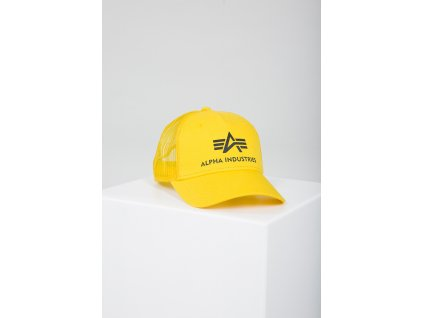 Alpha Industries Basic Trucker Cap šiltovka prime yellow