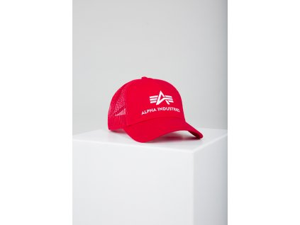 Alpha Industries Basic Trucker Cap šiltovka speed red b