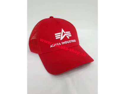 Alpha Industries Basic Trucker Cap šiltovka speed red