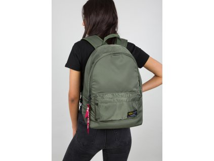 Alpha Industries Crew Backpack ruksak sage green