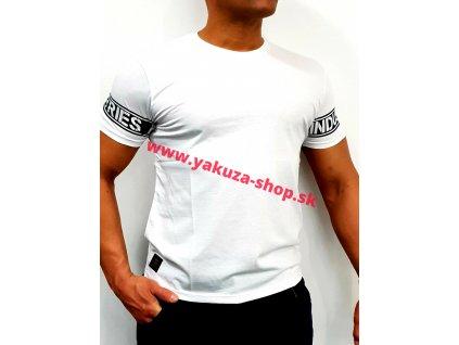Alpha Industries SLEEVE PRINT T white tričko pánske