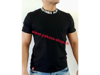 Alpha Industries NECKPRINT T black tričko pánske