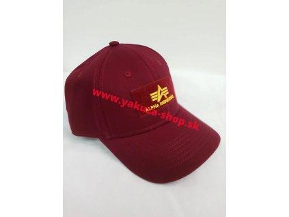 Alpha Industries VLC ll Cap šiltovka burgundy