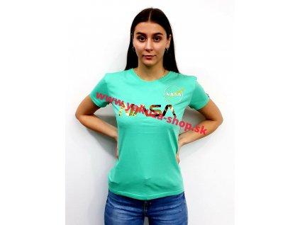 Alpha Industries NASA PM T Wmn pastel mint dámske tričko