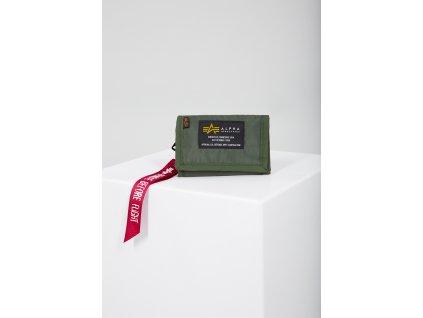 Alpha Industries Crew Wallet sage green peňaženka