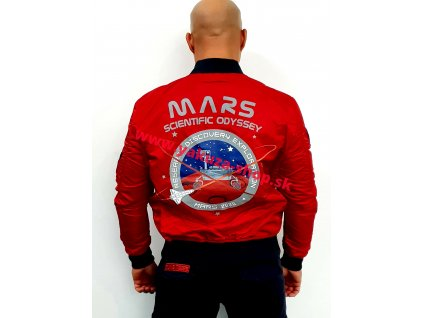 Alpha Industries MA-1 LW MISSION TO MARS bunda pánska speed red