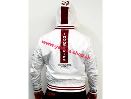 Alpha Industries MA-1 TT Hood Defense bunda pánska white