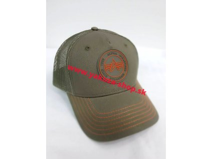 Alpha Industries TRUCKER PATCH CAP šiltovka dark green