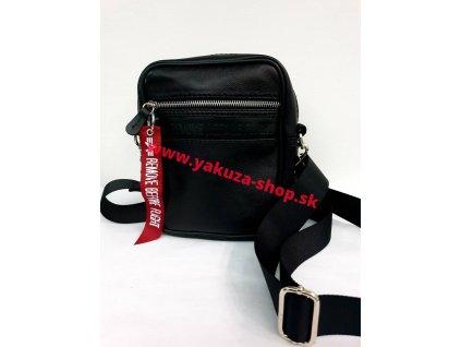 Alpha Industries RBF LEATHER MESSENGER BAG black kožená taška na rameno
