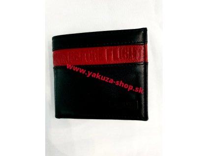 Alpha Industries RBF LEATHER WALLET Black/red peňaženka