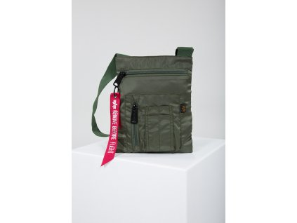 Alpha Industries Crew Messenger Bag taška na rameno sage green