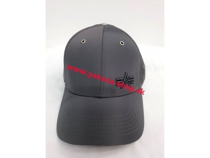 Alpha Industries Small logo Flight Cap šiltovka rep grey
