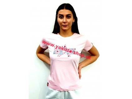 Alpha Industries FLOCK FLOWER T Wmn pastel pink dámske tričko