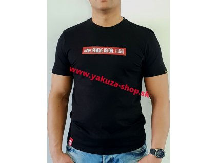 Alpha Industries RBF LATEX PRINT T black tričko pánske