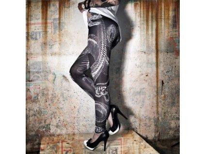 yakuza snake leggings leb 7140 black legínya