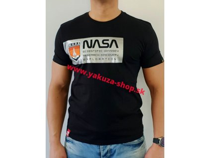 Alpha Industries MARS REFLECTIVE T black tričko pánske