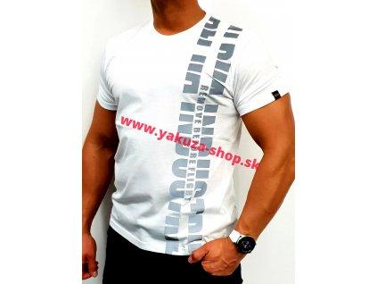 Alpha Industries REFLECTIVE PRINT T white tričko pánske