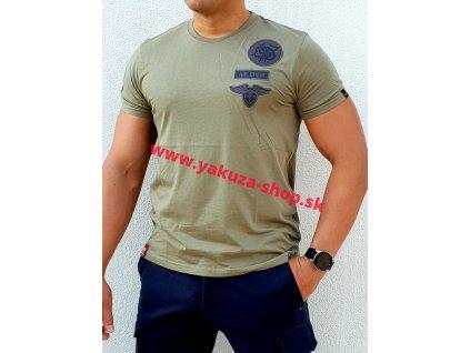 Alpha Industries Air Crew T tričko pánske olive