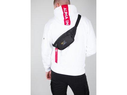 Alpha Industries CREW Waist Bag black ľadvinka-taška