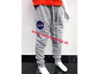 Alpha Industries NASA Jogger Kids detské tepláky grey