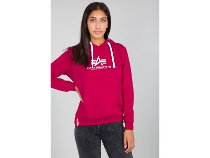 Alpha Industries dámska mikina New Basic Hoody Wmn major red