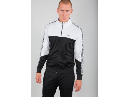 Alpha Industries TRACK TAPE JACKET pánska mikina black