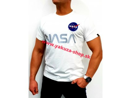 Alpha Industries NASA Reflective T white tričko pánske