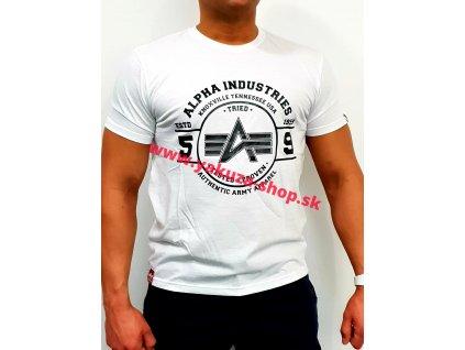 Alpha Industries AUTHENTIC VINYL T white tričko pánske
