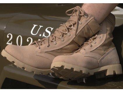 US KHAKI ′SPEED LACE′ DESERT BOOTS army topánky vychádzkové pánske
