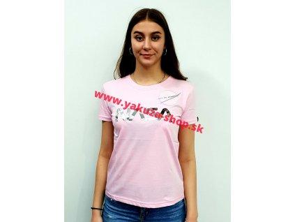 Alpha Industries NASA PM T Wmn pastel neon pink dámske tričko