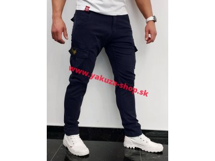 Alpha Industries nohavice Petrol patch Pant rep blue