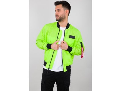 Alpha Industries MA 1 Neon neon yellow bunda pánska e