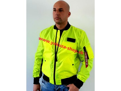 Alpha Industries MA-1 Neon neon yellow bunda pánska