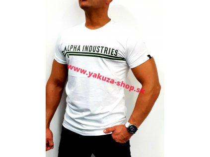 Alpha Industries ALPHA INDUSTRIES T white tričko pánske