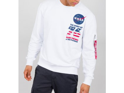 Alpha Industries VIKING Basic Sweater white mikina pánska f
