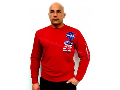 Alpha Industries VIKING Basic Sweater speed red mikina pánska