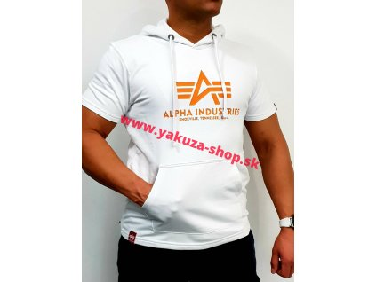 Alpha Industries BASIC T HOODED white tričko pánske