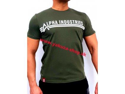 Alpha Industries ALPHA INDUSTRIES T dark olive tričko pánske
