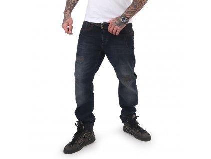 Yakuza jeansy pánske GIMP STRAIGHT JEANS JEB 15049 indigo
